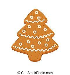 δέντρο , βούτημα , xριστούγεννα , άρτος αρωματισμένος με τζίντζερ , σχήμα