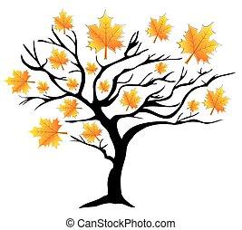 δέντρο , πέφτω