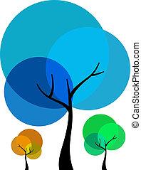 δέντρο , τρία