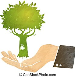 δέντρο , χέρι
