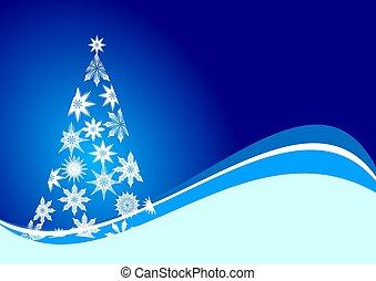 δέντρο , xριστούγεννα , νιφάδα