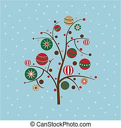δέντρο , xριστούγεννα , χιονάτος
