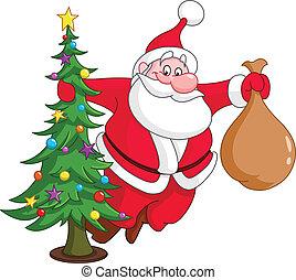 δέντρο , xριστούγεννα , santa