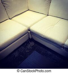 δέρμα , γωνία , καναπέs