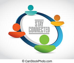δίκτυο , άνθρωποι , σήμα , συνδεδεμένος , ανάδρομος