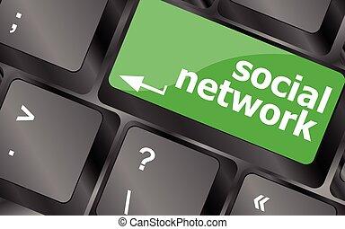 δίκτυο , κλειδιά , κουμπί , πληκτρολόγιο , button., μικροβιοφορέας , κλειδί , κοινωνικός , εικόνα