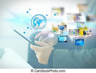 δίκτυο , κοινωνικός , γενική ιδέα , μέσα ενημέρωσης