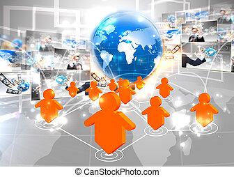 δίκτυο , σύνδεση , κοινωνικός