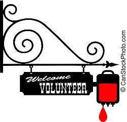 δίνω , καλωσόρισμα , αίμα , εθελοντής