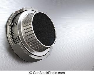 δίσκοs τηλεφώνου , γενική ιδέα , banking., ένταση αβλαβής , lock., closeup , backgro
