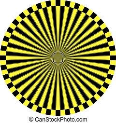 δίσκοs τηλεφώνου , στόχος , ρολόι , κίτρινο , μαύρο , άποψη , αναχωρώ