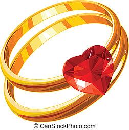δακτυλίδι , αγάπη
