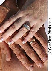 δακτυλίδι , ανάμιξη , γάμοs