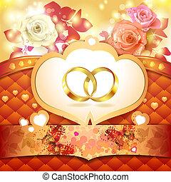 δακτυλίδι , δυο , γάμοs