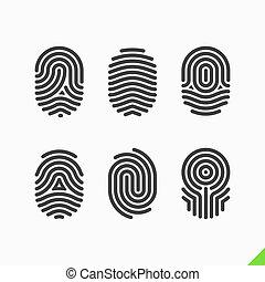 δακτυλικό αποτύπωμα , θέτω , απεικόνιση
