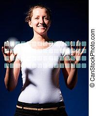 δακτυλογραφία , κατ' ουσίαν καίτοι όχι πραγματικός , πληκτρολόγιο
