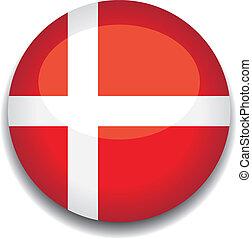 δανία , κουμπί , σημαία
