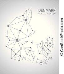 δανία , περίγραμμα , μικροβιοφορέας , γκρί , χάρτηs