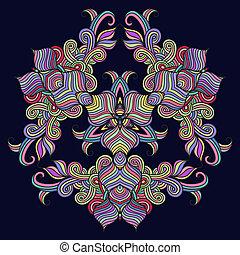 δαντέλλα , πρότυπο , σύγχρονος , πετσετάκι , άνθινος , στρογγυλός