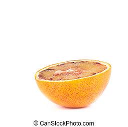 δείγμα , πορτοκάλι , φρούτο , απομονωμένος , μισό