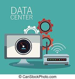δεδομένα , τεχνολογία , κέντρο