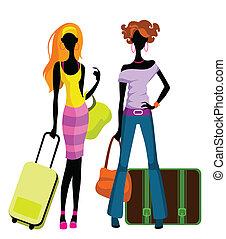 δεσποινάριο , βαλίτσα