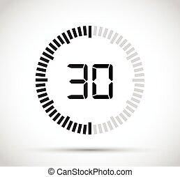 δεύτερος , 30 , μετρών την ώραν