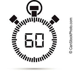 δεύτερος , 60 , μετρών την ώραν