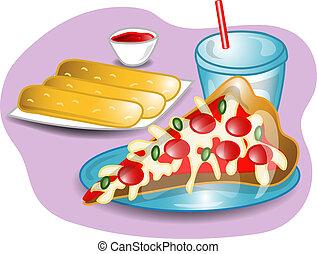 δεύτερο πρόγευμα , ολοκληρώνω , εικόνα , πίτα με τομάτες και τυρί