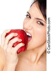 δηκτικός , γυναίκα , αριστερός μήλο