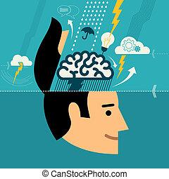 δημιουργικός , brainstorming , γενική ιδέα