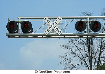 διάβαση αναχωρώ , σιδηρόδρομος