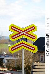 διάβαση , σιδηρόδρομος , σήμα κυκλοφορίας