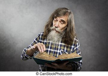 διάβασμα , γριά , βιβλίο , ηλικιωμένος , αρχαιότερος , μόρφωση , άντραs