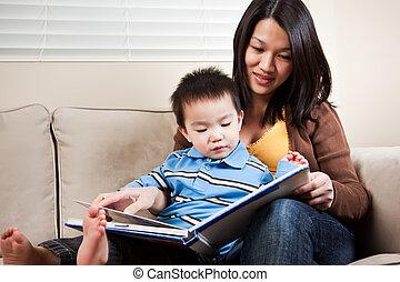 διάβασμα , μητέρα , υιόs