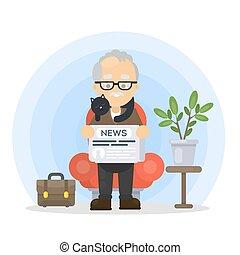 διάβασμα , news., παππούs