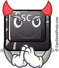 διάβολοs , κουμπί , επισύναψα , esc , πληκτρολόγιο , γελοιογραφία