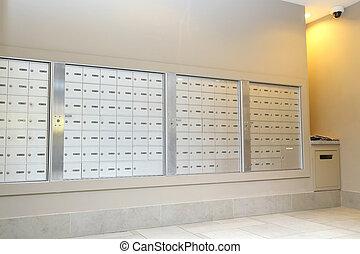 διάδρομος , κουτί για γράμματα