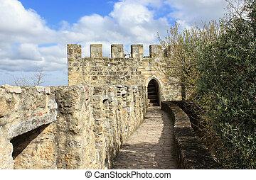 διάδρομος , μέσα , sao , jorge , κάστρο , λισσαβώνα , πορτογαλία