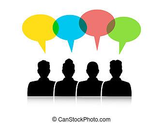 διάλογος , ανάμεσα , διαφορετικός , άνθρωποι