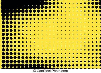 διάσπαρτος , panel., gradient., φόντο , pattern., κίτρινο , halftone, ευφυής , μικροβιοφορέας , μαύρο , εικόνα , points., ψηφιακός , αποσιωπητικά