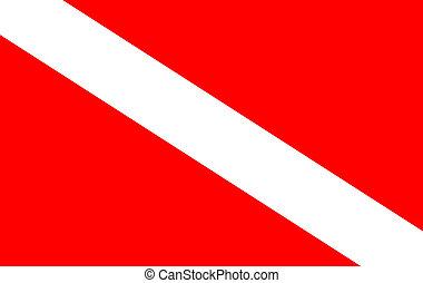 διάφορος , κατάδυση με φιάλη , σημαία