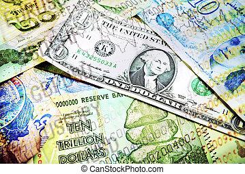 διάφορος , χρήματα , και , αγορά , αριθμοί