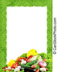 διάφορων ειδών , άβγαλτος από λαχανικά