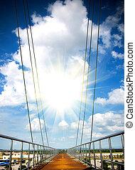 διαβάτης γέφυρα , αρχηγία , να , ο , ουρανόs