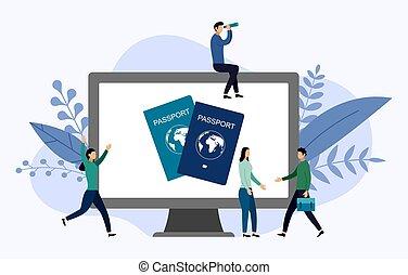 διαβατήριο , ταξιδεύω , εικόνα , μικροβιοφορέας , ανθρώπινος , αντίληψη , διεθνής