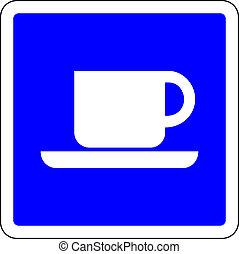 διαθέσιμος , μπλε , καφέs , σήμα