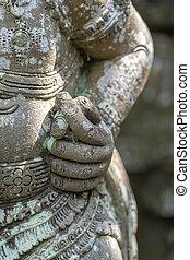 διαθήκη , πέτρα , ubud , get., fig., νησί , ινδονησία , αρνητικός , bali , παραδοσιακός , χέρι , τίποτα , άγαλμα , value., μη , εσείs , σήμα