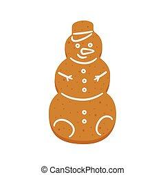 διακοπές χριστουγέννων βούτημα , άρτος αρωματισμένος με τζίντζερ , χιονάνθρωπος , σχήμα