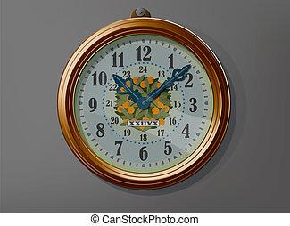διακοσμητικός , αρχαίος , γριά , ρολόι